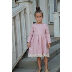 Sukienka lniana pink